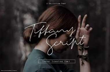 Tiffany Script Font Family Free Download